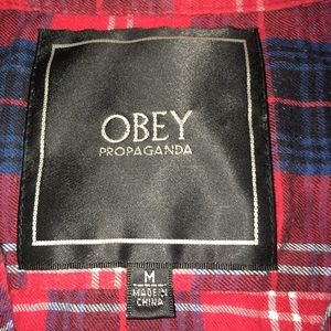 Obey short sleeve button up